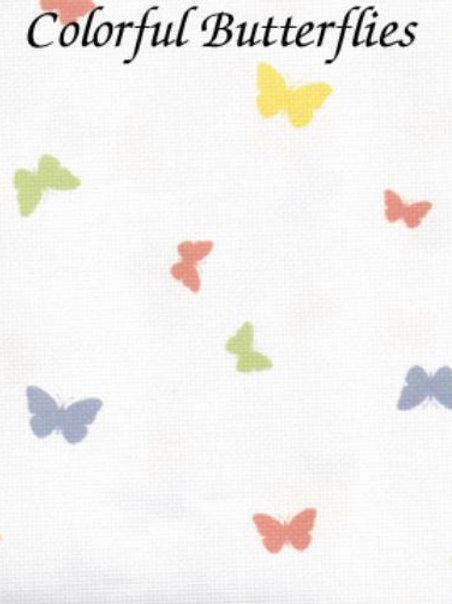 Colorful Butterflies | Hardanger | Silkweaver Fabric