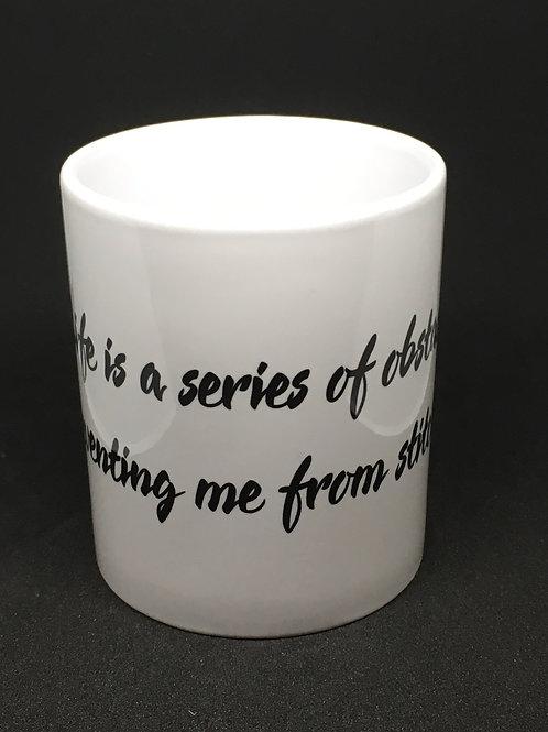 Stitching Obstacles Mug