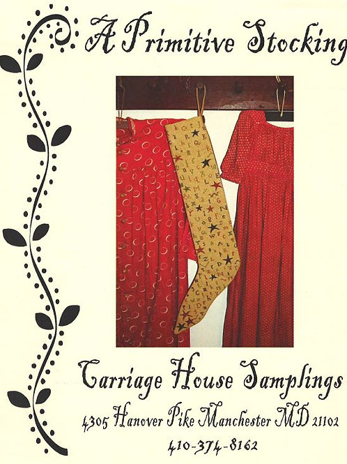 A Primitive Stocking | Carriage House Samplings