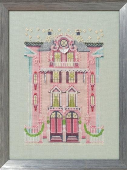 The Pink Edwardian House Holiday Village | Nora Corbett Designs