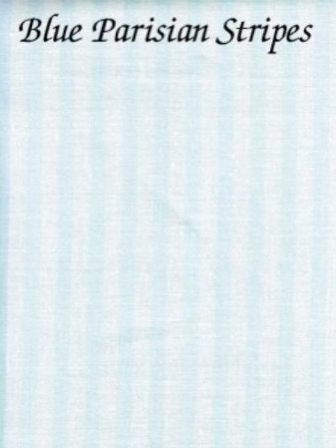 Blue Parisian Stripes   Hardanger   Silkweaver Fabric