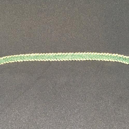 """3/8"""" Woven Green w/ Tan"""