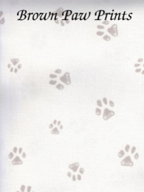 Brown Paw Prints | Aida | Silkweaver Fabrics