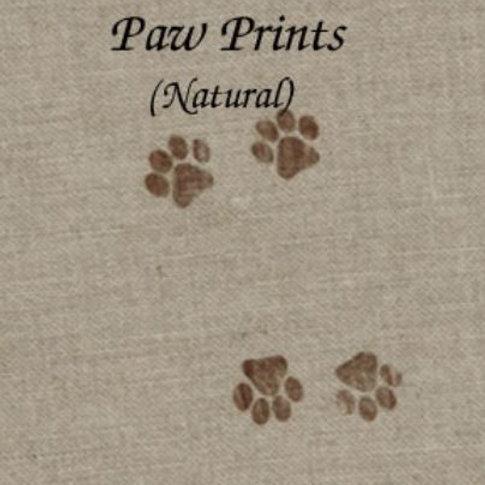 Paw Prints Natural | Linen | Silkweaver Fabrics