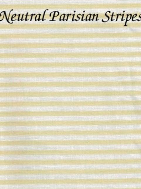 Neutral Parisian Stripes | Aida | Silkweaver Fabrics