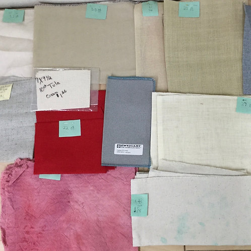 Assorted Cross Stitch Fabric Lot