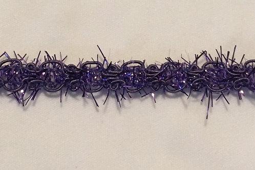 Braided Tinsel Trim, Purple