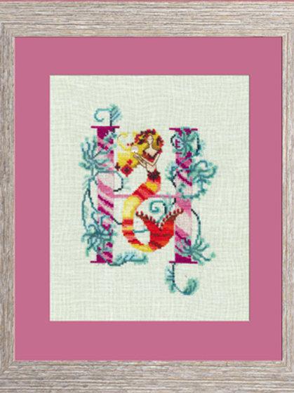 Letters From Mermaids - H   Nora Corbett Designs