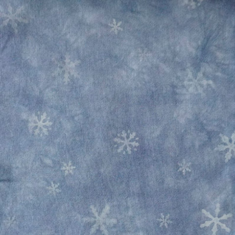 Bliss-Vintage Blue Clouds w/ snowflakes #181527
