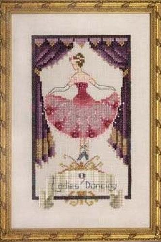 Nine Ladies Dancing 12 Days of Christmas   Nora Corbett Designs