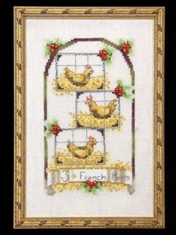 Three French Hens 12 Days of Christmas | Nora Corbett Designs