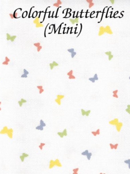 Colorful Butterflies (Mini) | Aida | Silkweaver Fabrics