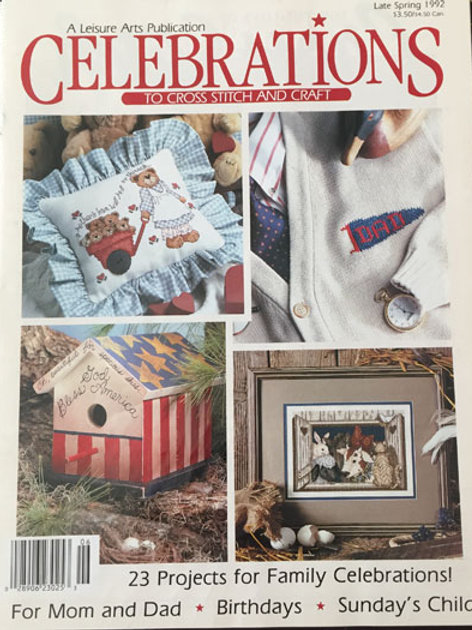 Celebrations to Cross Stitch and Craft Late Spring 1992