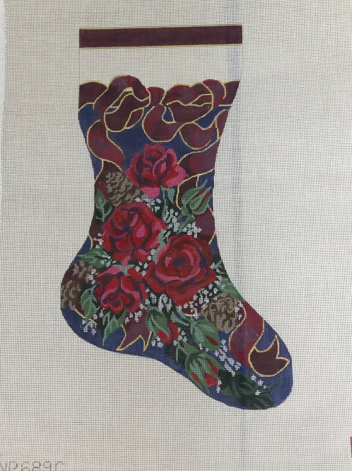 Christmas Stocking Painted Canvas | Handpainted Stocking