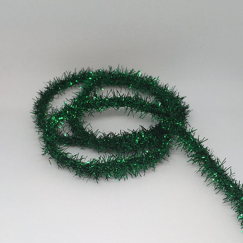 "3/8"" Tinsel Trim, Green"