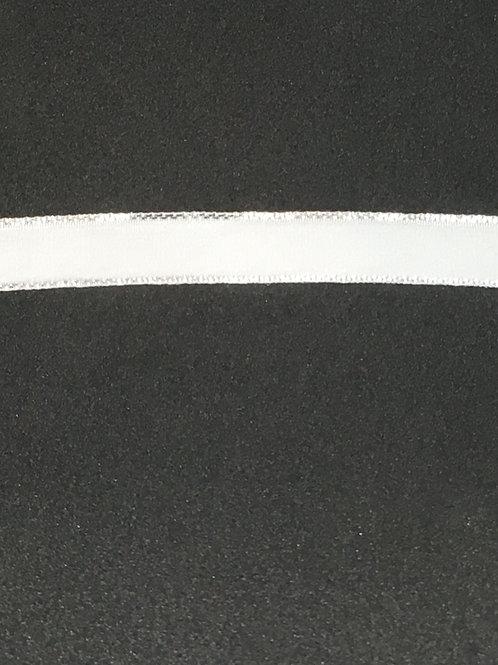 """1/2"""" White Velvet w/ silver trim"""