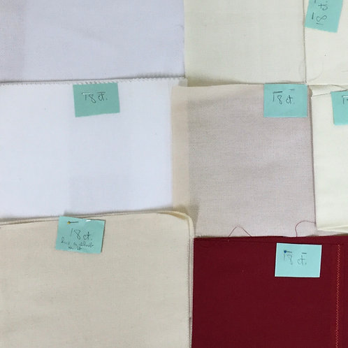 Miscellaneous 18ct Fabric Lot
