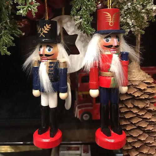 6 Piece Mini Nutcracker Ornament Set