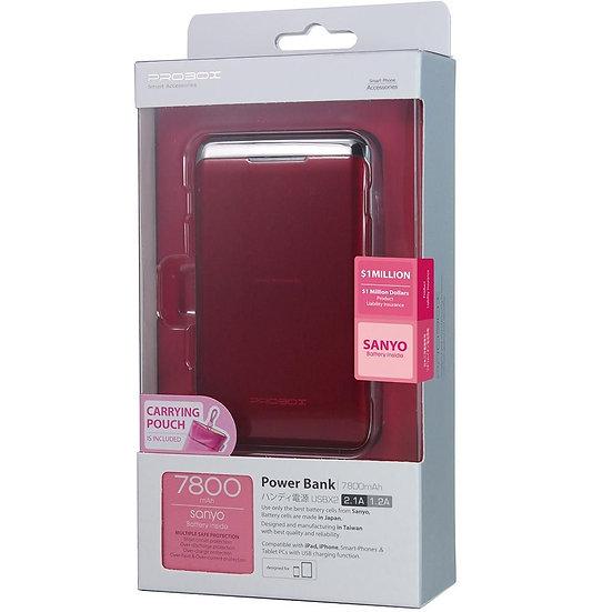 Hotway Probox 7800Mah Power Bank Red / Dual Usb