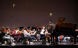 Catherine Ma piano rehearsal with orchestra