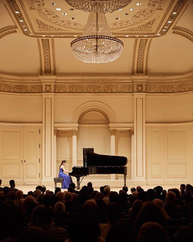 Catherine Ma performs in Carnegie hall