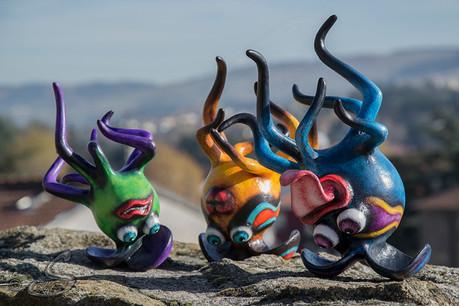Sculptures Les Gazelles, gym du matin...