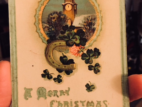 90 Year-old Christmas Postcard has a lot to say, though some of it is made-up.
