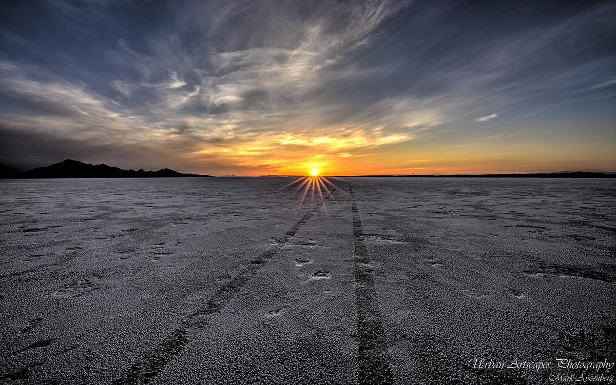 Bonneville Salt Flats and Salt Lake