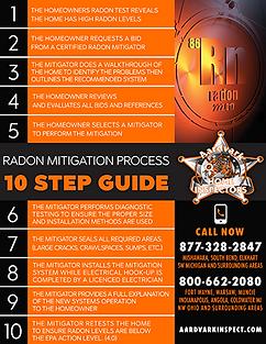 Radon 10 Step Flyer