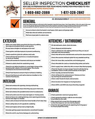 Seller Inspection Checklist
