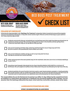 Bed Bugs Post Treatment Checklist Thumbn