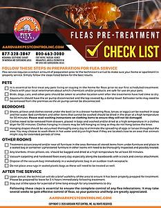 Fleas Pre Treatment Checklist Thumbnail.