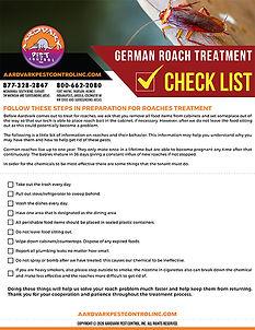 German Roach Treatment Checklist Thumbna