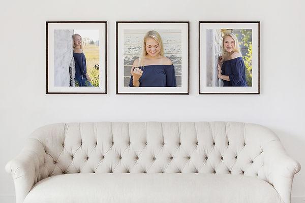 Framed Portraits of a Williston High School Senior, Williston Photographer