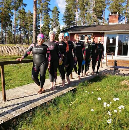 Säkylä triathlon Pitkäjärvellä.