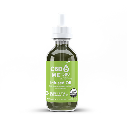CBD & Me: Organic Oil with Hemp Extract for Dogs - Unflavored 500 mg/oz