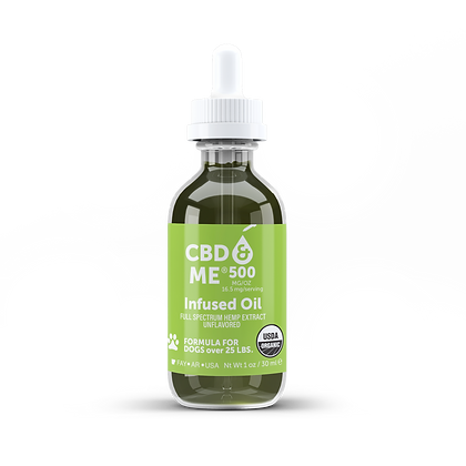 Organic CBD & Me Hemp Oil for Dogs Unflavored 500 MG/OZ