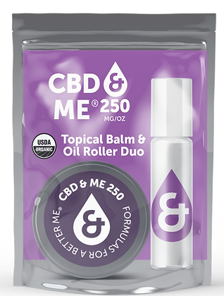 Organic CBD & Me Balm & Oil Roller Duo 250 MG/OZ