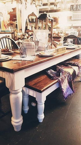 8' Farmhouse Table With Large Legs