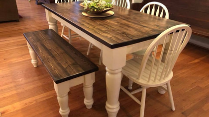 6 Foot Traditional Farmhouse Table