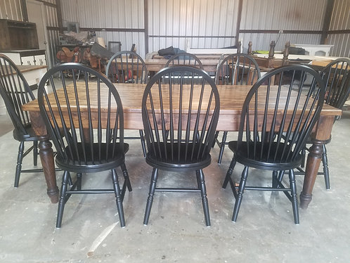 farm table with chairs