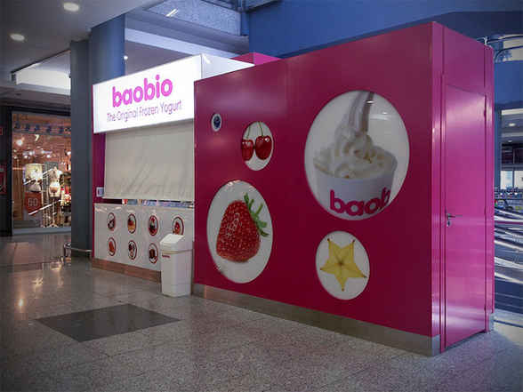 Montaje de Kiosko de helado en centro comercial