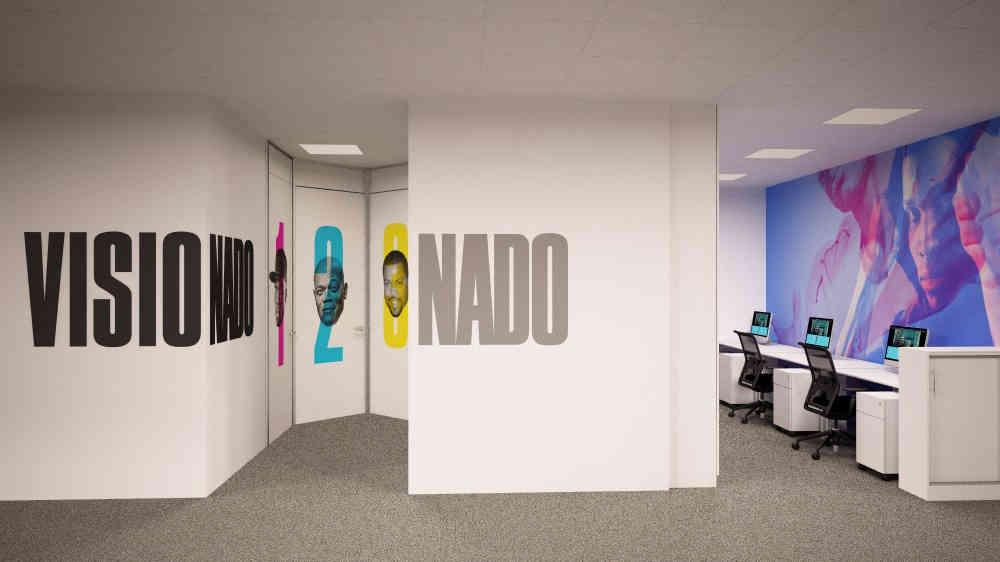 Señalización vertical en oficinas