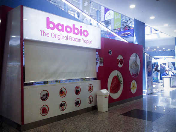 Diseño de Kiosko de helado en centro comercial