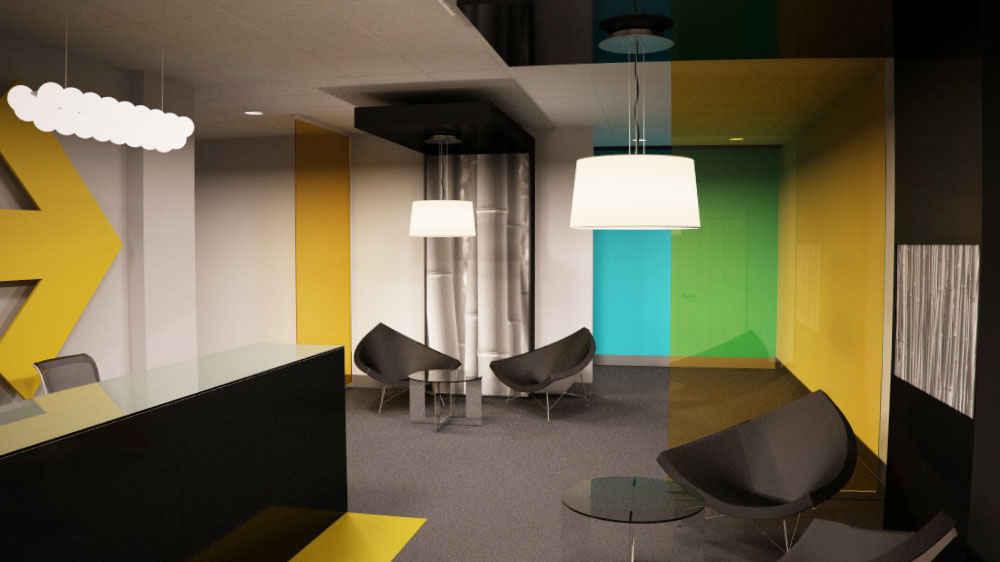 Diseño de recepción de oficina
