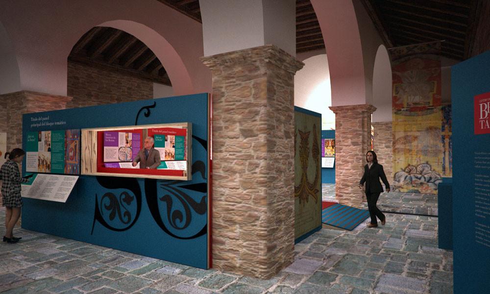 Vista de la entrada del Centro de interpretación del Beato de Tábara realizado por Decoración de