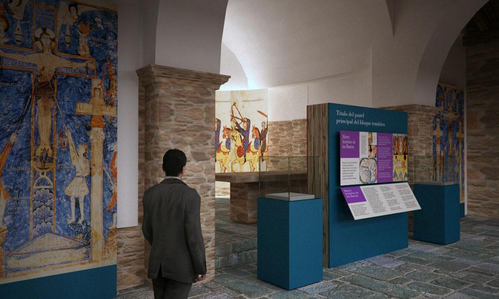 Vista de sala del Centro de interpretación del Beato de Tábara realizado por Decoración de