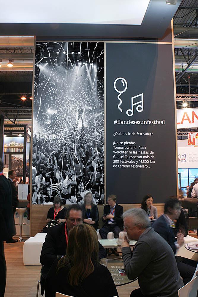 diseño de stands en Fitur 2016 para Flandes