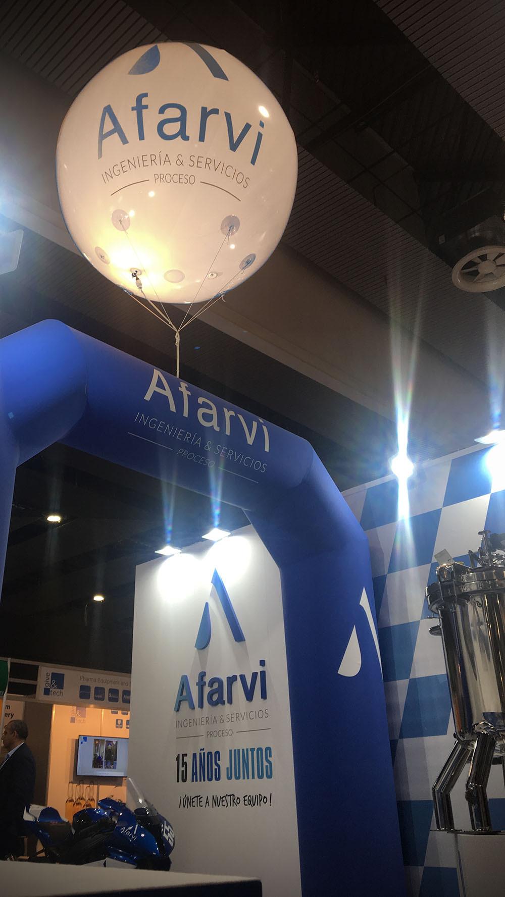 Diseño y montaje de stands para Afarvi en Farmaforum