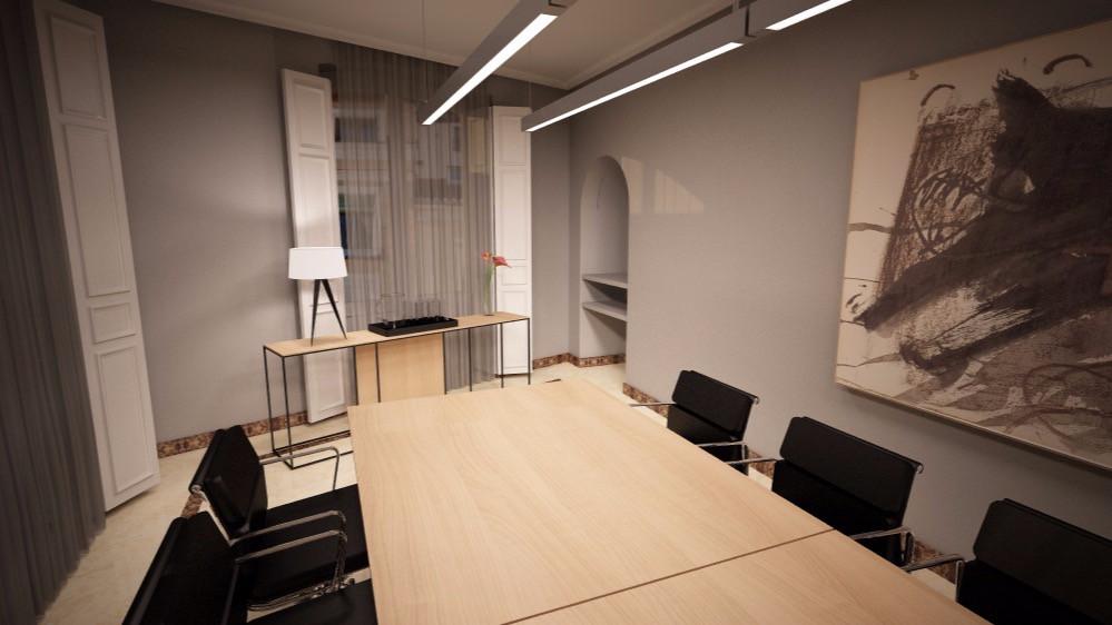 Reforma y decoración de sala de reuniones de despacho de abogados